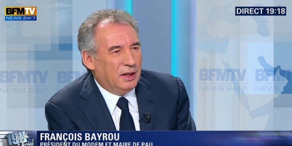 """François Bayrou, catégorique : """"Il n'y a plus de gauche"""""""