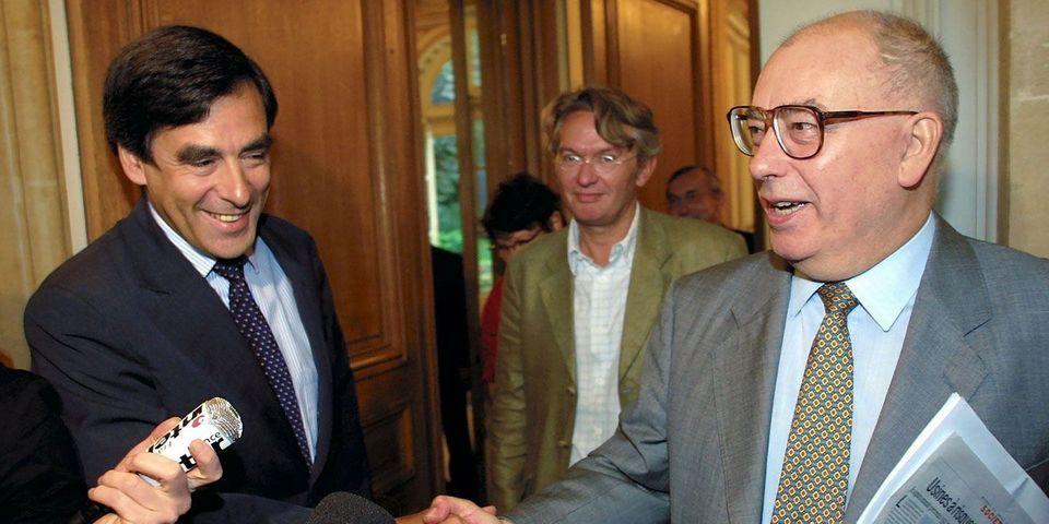François Fillon, premier ténor de l'opposition à rendre hommage à l'ancien patron de FO, Marc Blondel