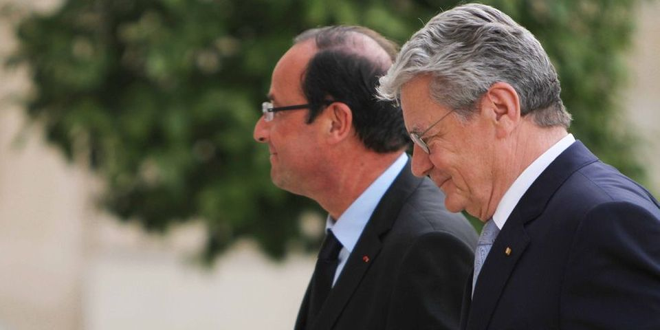 François Hollande à Oradour-sur-Glane avec le président allemand le 3 septembre