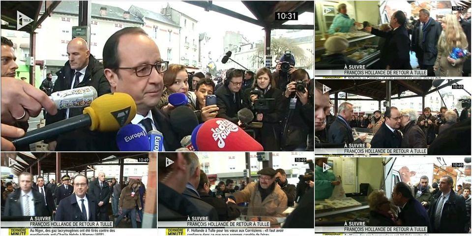 """François Hollande à Tulle : """"La vie doit reprendre sa place"""""""