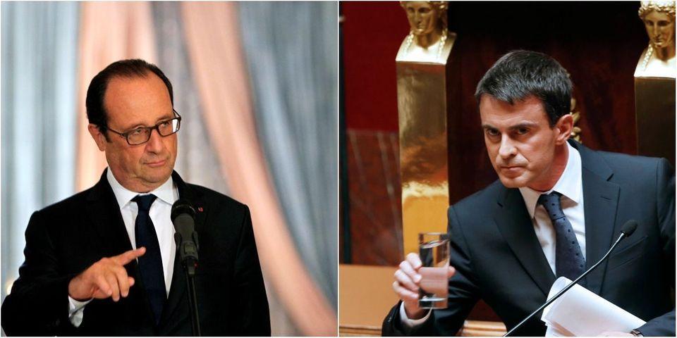 """François Hollande en a """"un peu marre"""" de Manuel Valls, qui """"tire un peu trop sur la corde"""" à son goût"""