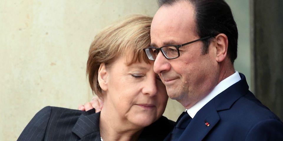 François Hollande exalte le binôme franco-allemand