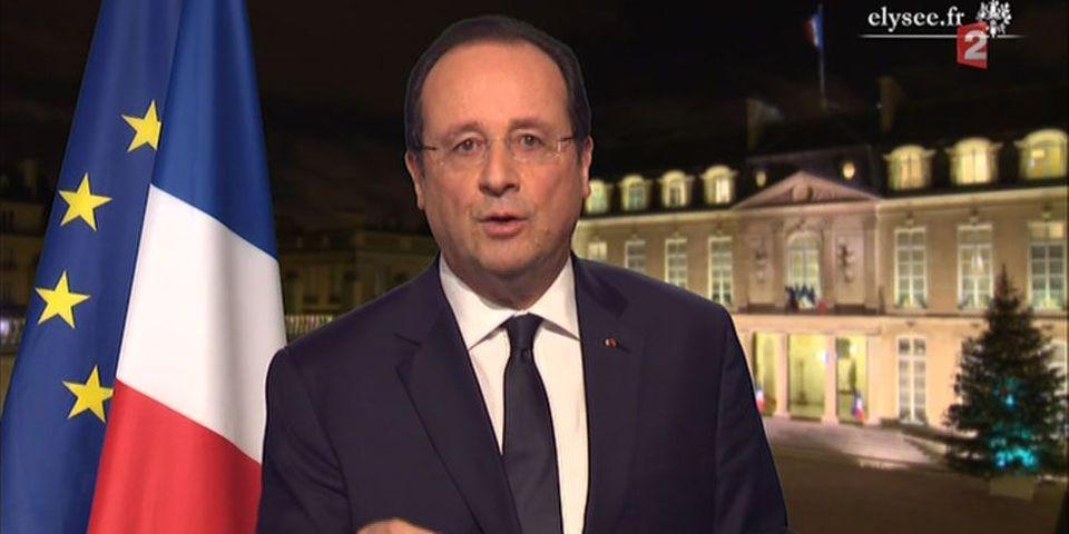 """François Hollande invente le """"pacte de responsabilité aux entreprises"""" pour la nouvelle année"""