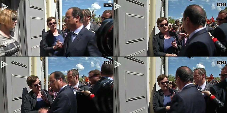 François Hollande pris à partie par des habitants de Carmaux lors de son hommage à Jean Jaurès