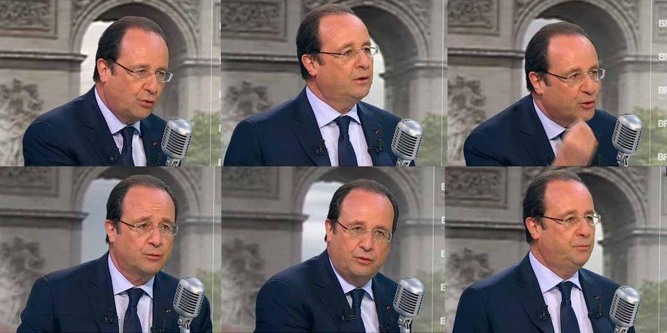 François Hollande promet face caméra qu'il ne sera pas candidat en 2017 s'il échoue sur le chômage