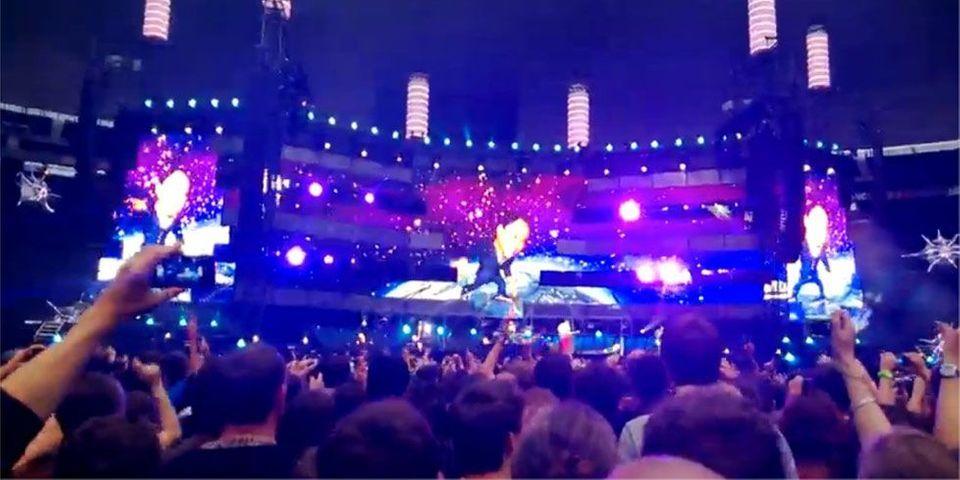 François Hollande sur scène avec Muse au Stade de France, sujet le plus lu de la semaine