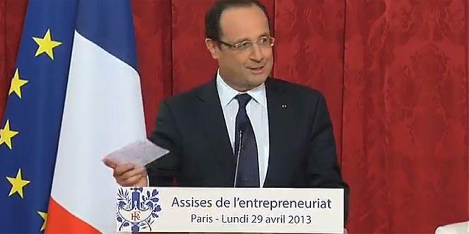 """François Hollande veut enseigner """"l'entrepreneuriat"""" de la sixième à la terminale"""