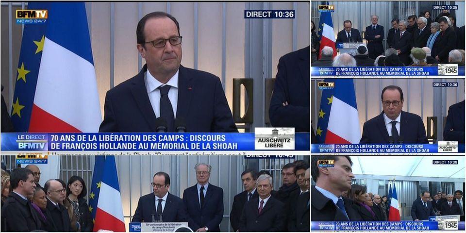 """François Hollande veut """"un cadre juridique"""" international contre le négationnisme et """"les thèses complotistes"""" sur internet"""