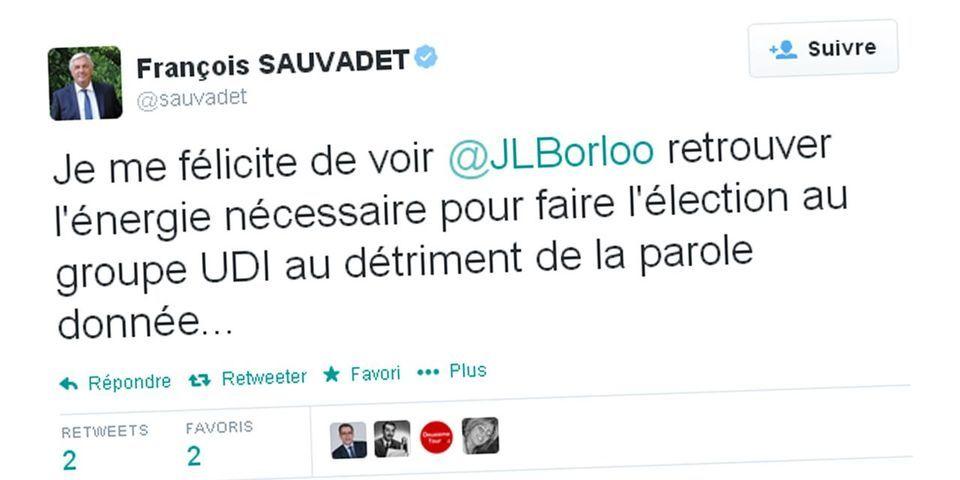 François Sauvadet accuse Jean-Borloo de l'avoir fait battre à la présidence du groupe UDI à l'Assemblée