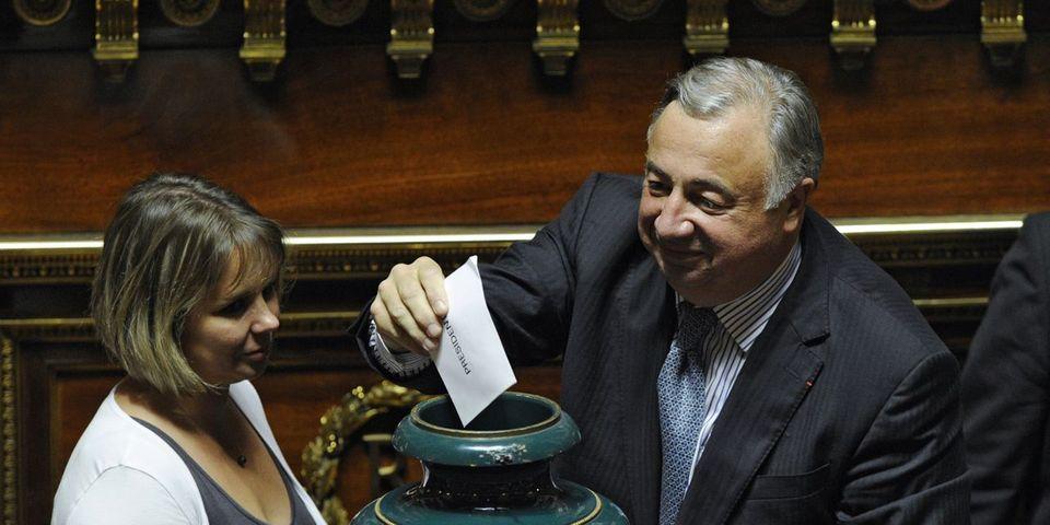 Gérard Larcher est déjà président du Sénat sur sa fiche Wikipédia