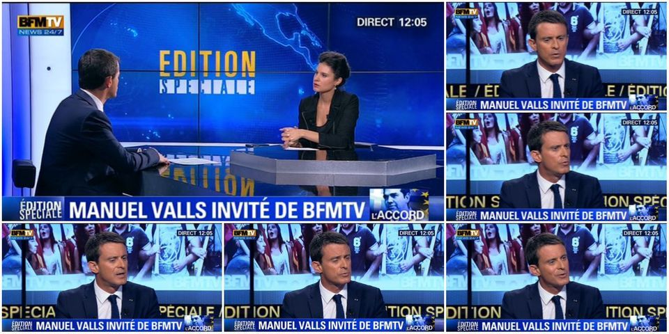"""Grèce : Valls explique que contrairement à Sarkozy, Hollande """"s'est hissé au niveau de l'Histoire"""""""