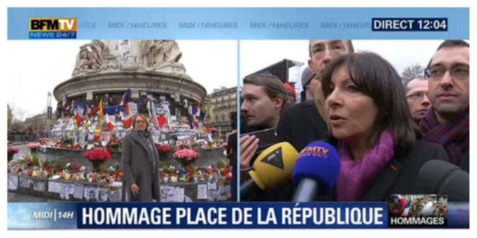 Hidalgo contrainte d'expliquer devant les caméras pourquoi il n'y a personne à la cérémonie d'hommage aux victimes des attentats