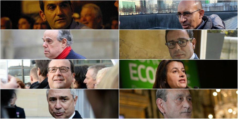 """Hollande, Bartolone, Duflot, Delanoë, Désir et Mitterrand présents à la marche """"contre le terrorisme"""" à Tunis"""