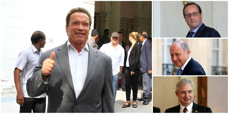Hollande, Fabius, Bartolone : ils veulent tous s'afficher avec Arnold Schwarzenegger