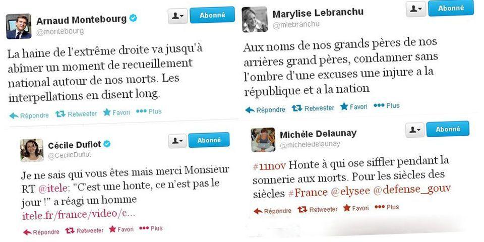 Hollande hué sur les Champs-Elysées: les ministres condamnent