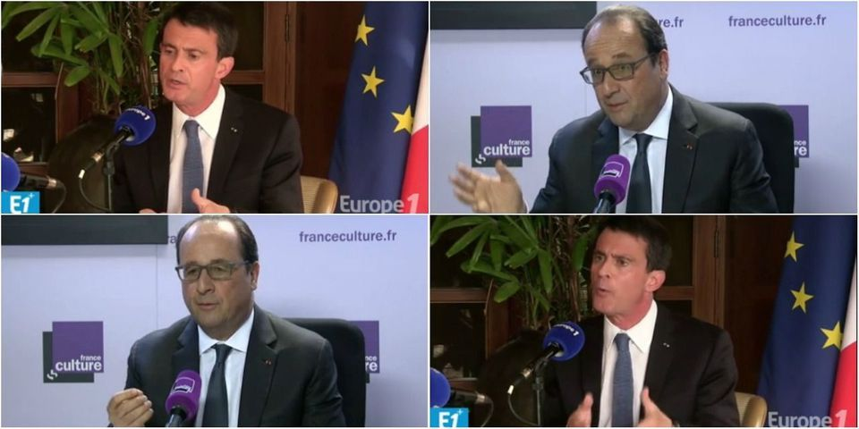 Hollande sur France Culture vs Valls sur Europe 1 : le partage des tâches de l'exécutif en plein conflit social