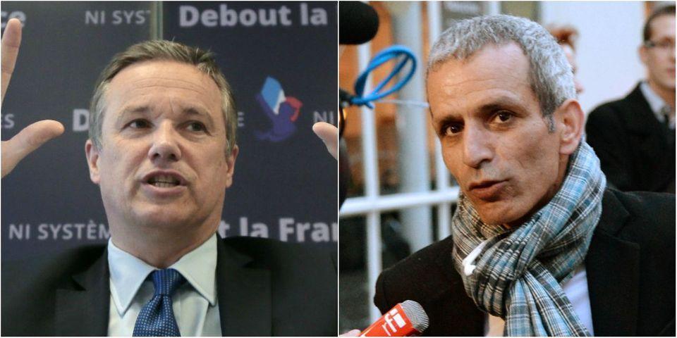 Nicolas Dupont-Aignan rêve que Malek Boutih (PS) devienne son ministre