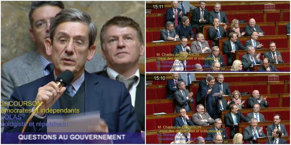 INSTANT TÉLÉ - Charles de Courson établit le record de la question la plus courte des questions au gouvernement : 10 secondes