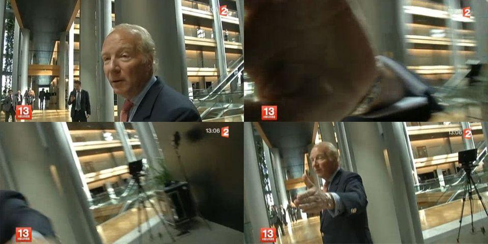 Interrogé sur la mise en examen de Nicolas Sarkozy, Brice Hortefeux gifle une caméra de France Télévisions
