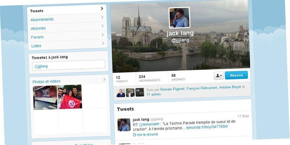 Jack Lang débarque sur Twitter