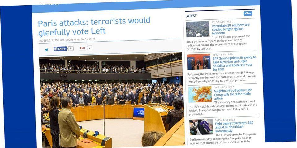 """Cambadélis condamne le communiqué """"monstrueux"""" de la droite européenne, selon lequel """"les terroristes voteraient volontiers à gauche"""""""