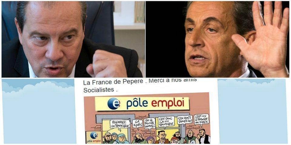 """Jean-Christophe Cambadélis demande à Nicolas Sarkozy de """"virer"""" l'élu de Les Républicains qui a relayé un dessin raciste"""