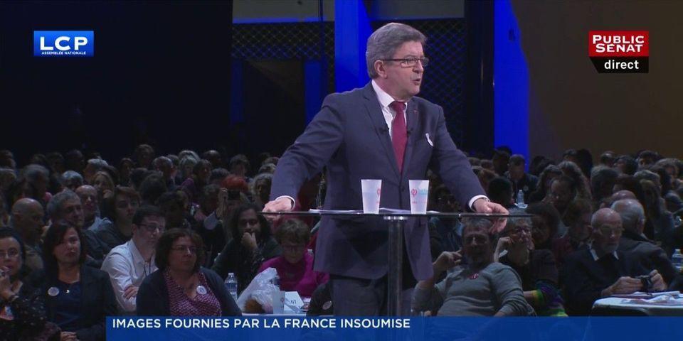 """VIDÉO - Mélenchon annonce une liste transnationale """"Europe insoumise"""" pour les élections européennes"""