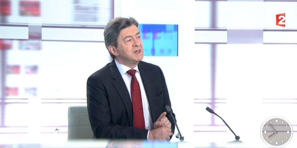 """Jean-Luc Mélenchon dénonce les médias qui surestiment """"l'impact du Front national"""" et minimisent celui du Front de gauche"""