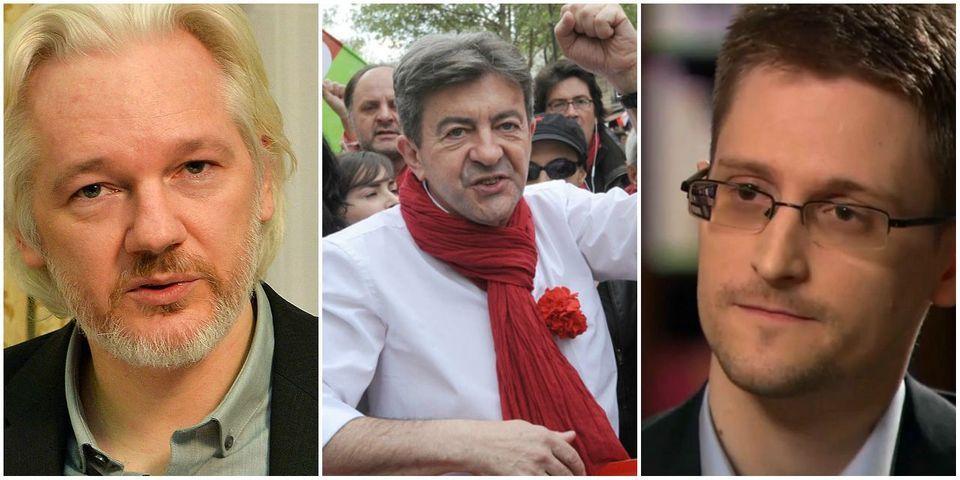 """Jean-Luc Mélenchon estime que Snowden et Assange devraient être naturalisés français pour """"services rendus à la patrie"""""""