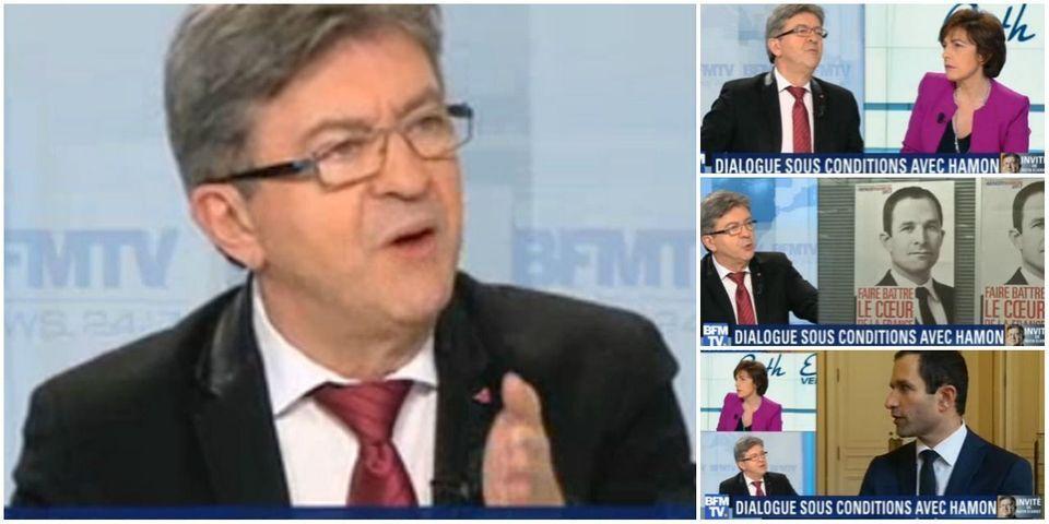 """Jean-Luc Mélenchon ne ralliera pas la candidature de Benoît Hamon : """"je ne vais pas m'accrocher à un corbillard"""""""
