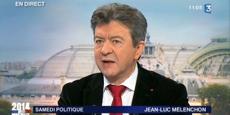 """Jean-Luc Mélenchon prévient Anne Hidalgo qu'utiliser l'étiquette Front de gauche à Paris serait """"un délit"""""""