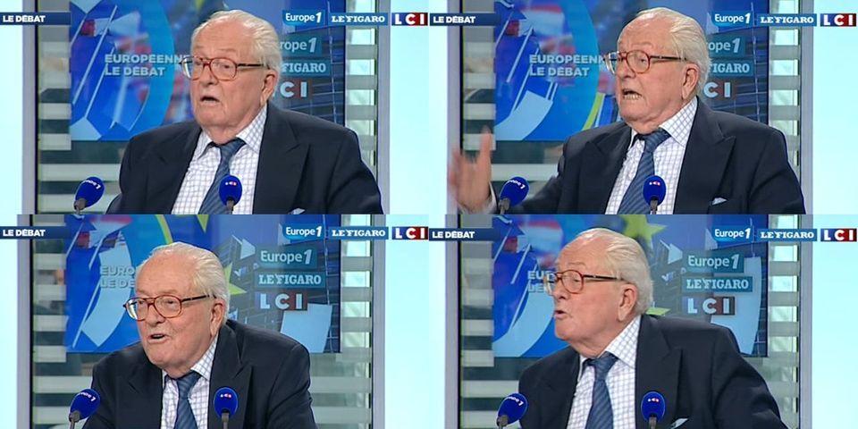 Jean-Marie Le Pen s'amuse des intentions de vote des plus de 65 ans en faveur de son adversaire aux européennes, l'UMP Renaud Muselier