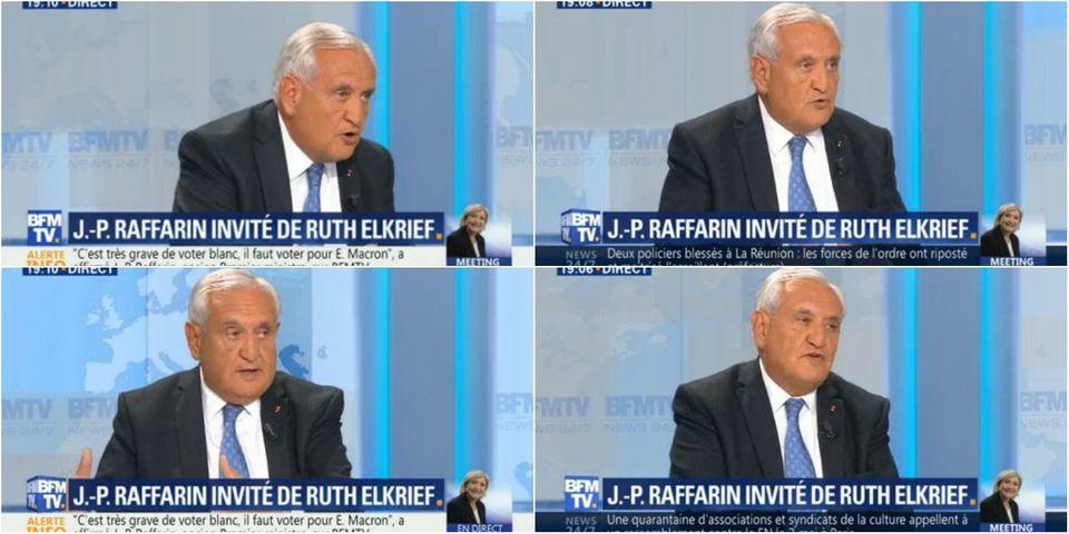 """Jean-Pierre Raffarin estime que Laurent Wauquiez """"ne peut pas être le leader"""" de LR parce qu'il a """"prôné le vote blanc"""""""