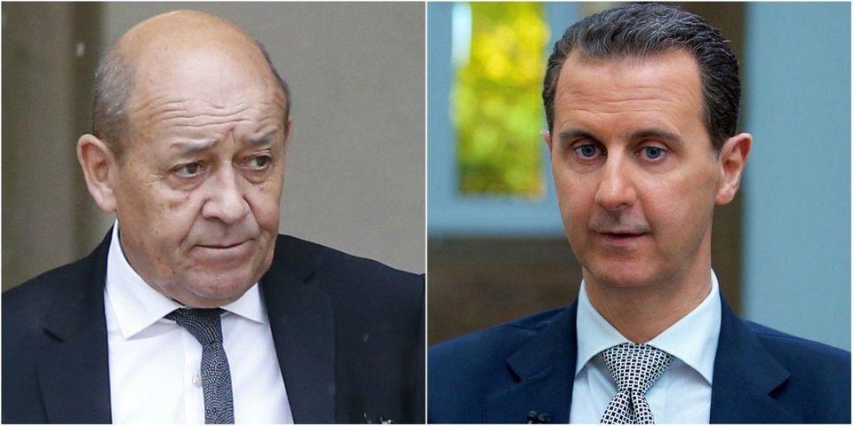 Jean-Yves Le Drian suggère à Bachar el-Assad d'arrêter de donner des leçons à la France vu le sang qu'il a sur les mains