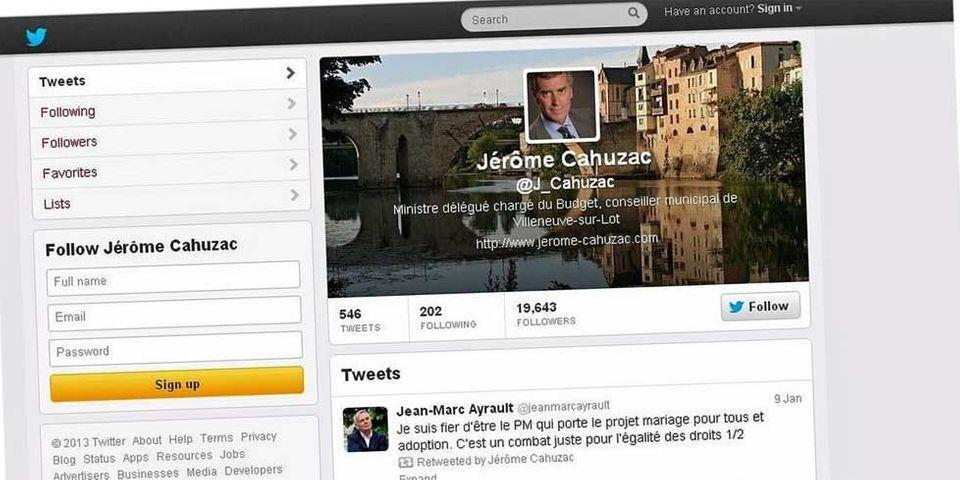 Jérôme Cahuzac ferme son compte Twitter