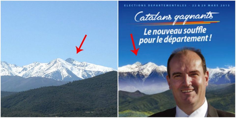 L'affiche de campagne mal retouchée d'un ex-conseiller de Nicolas Sarkozy