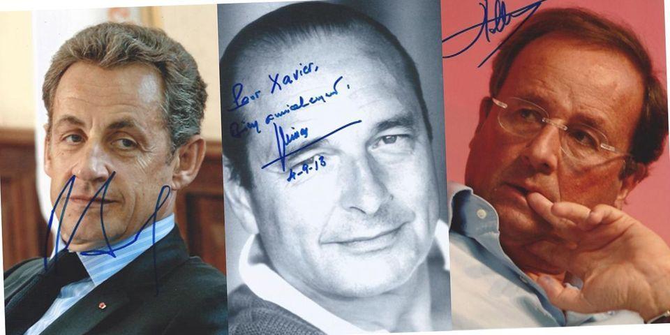 L'autographe de Jacques Chirac plus cher que ceux de Nicolas Sarkozy et François Hollande réunis