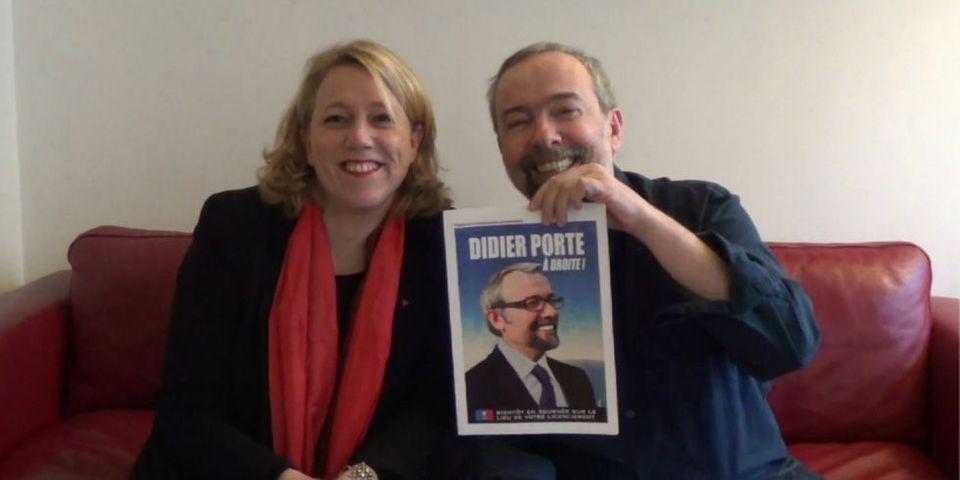 Danielle Simonnet, candidate du Parti de gauche à Paris, revendique le soutien de l'humoriste Didier Porte