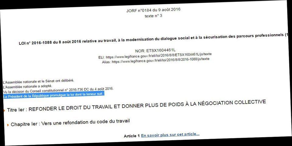 La décriée loi Travail promulguée par François Hollande