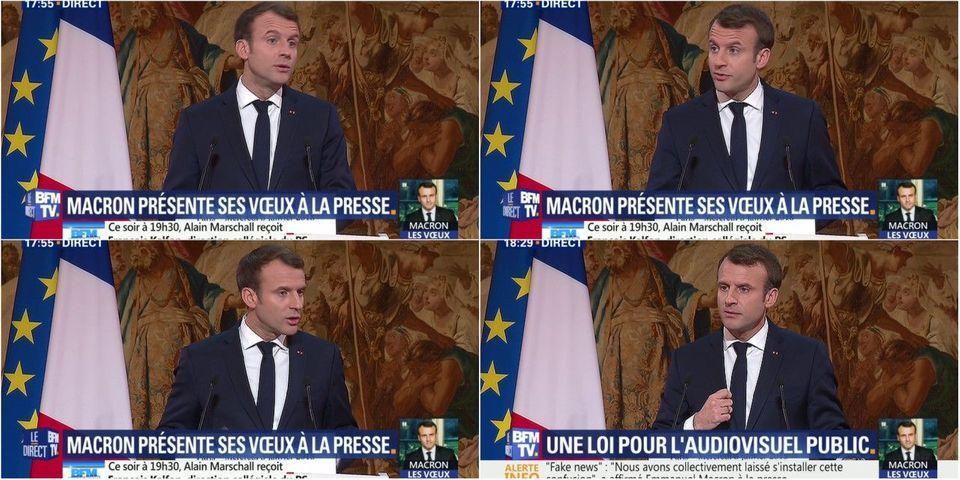 """La leçon d'Emmanuel Macron aux journalistes sur la """"saine distance"""" nécessaire avec les politiques"""