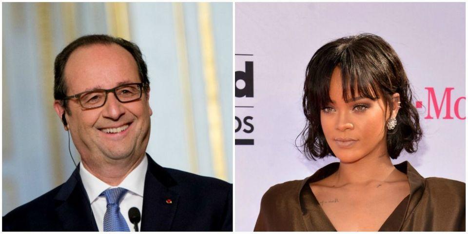 La lettre de réponse de François Hollande à la chanteuse Rihanna