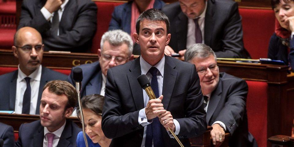 """La petite théorie de Manuel Valls sur le budget de la France, Angela Merkel et """"le danger FN"""""""