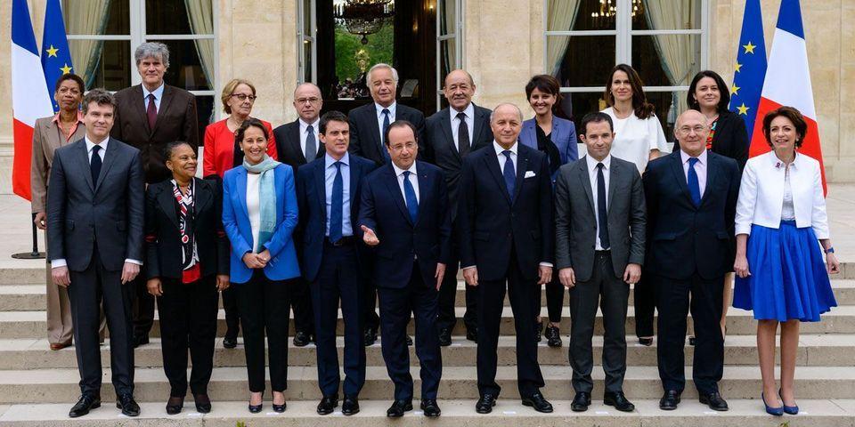 La photo de famille du nouveau gouvernement Valls