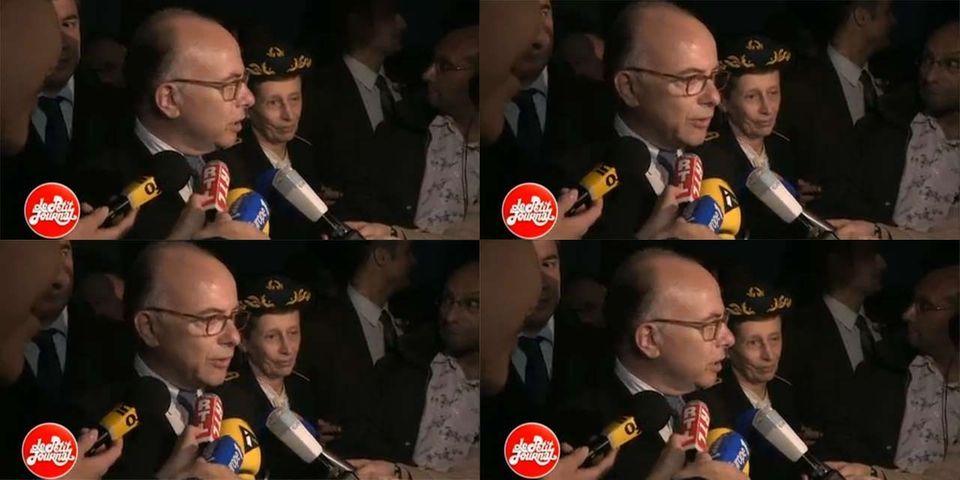 La première déclaration de Bernard Cazeneuve en tant que ministre de l'Intérieur perturbée par les cris de joie de supporteurs du PSG