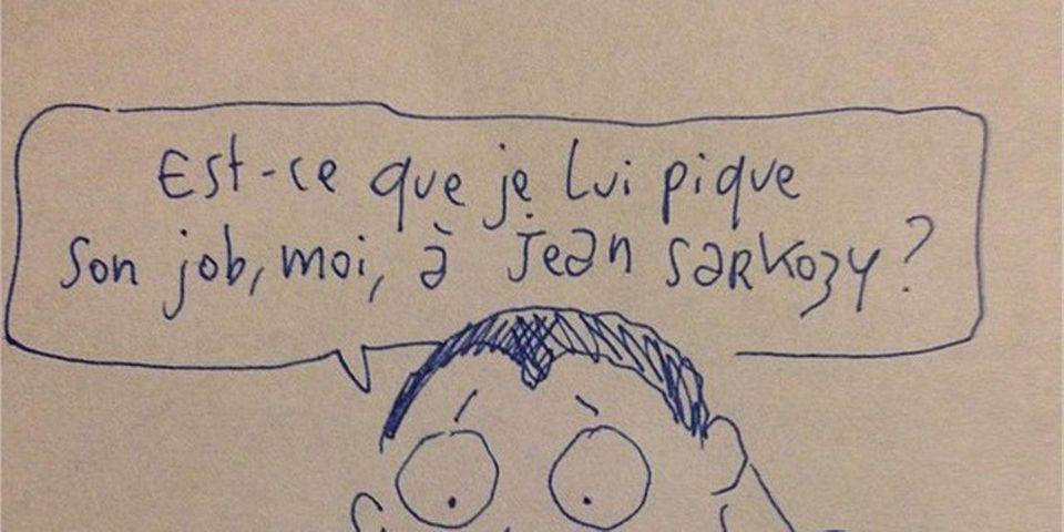 La réponse de Joann Sfar à Jean Sarkozy, qui moque François Hollande et Manuel Valls en dessins