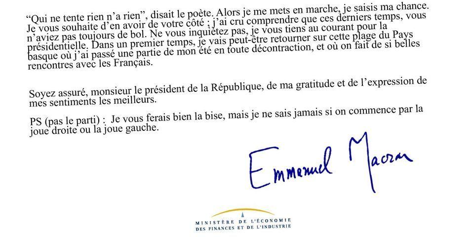 La Vraie Fausse Lettre De Demission D Emmanuel Macron