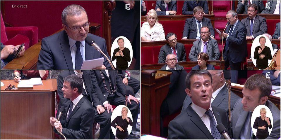"""L'avoinée de Manuel Valls à Hervé Mariton pendant les questions au gouvernement : """"Il y en a assez de cette violence verbale"""""""
