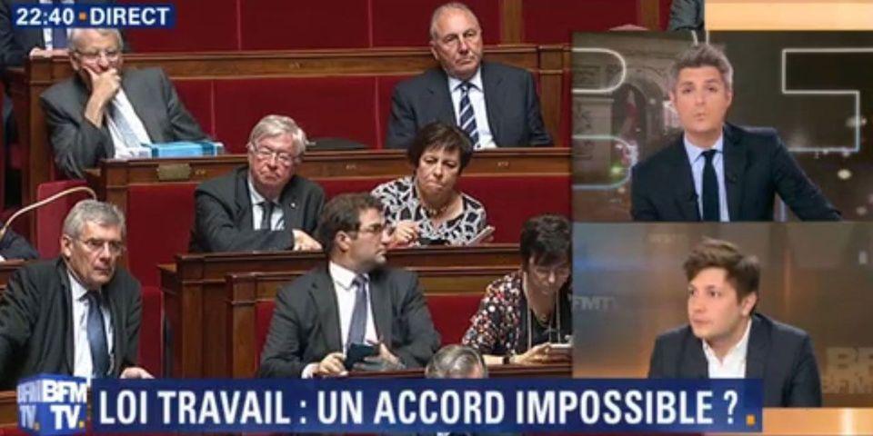 Le cabinet de Valls se plaint en plein direct auprès du présentateur de BFMTV du manque d'invités soutenant la loi Travail