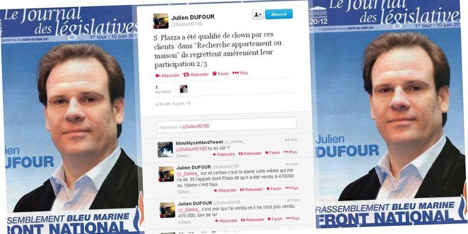 Le live-tweet accusateur du candidat Front national à Boulogne-Billancourt contre Stéphane Plaza de M6