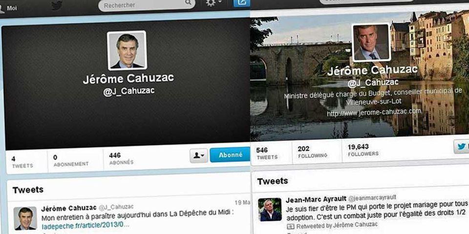 Le compte Twitter de Cahuzac renaît à son insu